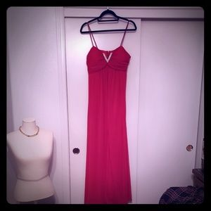 Candy Apple Red Maxi Prom Dress